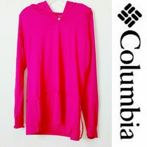 COLUMBIA Womens Hoodie Pullover Pink Large